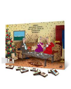 """Adventskalender personalisiert - Motiv """"Zu Weihnachten gekriegt"""""""