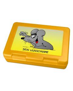 "Brotdose Lunchbox Gelb ""Winken"" - personalisierbar"