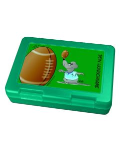 "Brotdose Lunchbox Grün ""Football"" - personalisierbar"