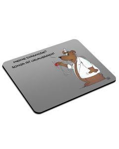 Mousepad 'Diagnose Urlaubsreif' mit Namen personalisiert